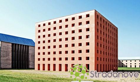 Bangunan Postmodern Pemakaman San Cataldo Modena, Italia